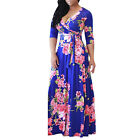 US Plus Size Women BOHO Long Evening Party Cocktail Prom Floral Beach Maxi Dress