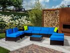 Mcombo  Wicker Patio Sofa Aluminum Outdoor Patio Furniture Sectional 6080-9PC
