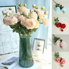 Usa Artificial Peony Silk Flower Bouquet Home Floral Wedding Party Garden Decor