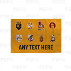 Bradford City FC Official Personalised Retro Badges Amber Flag Banner BCB007