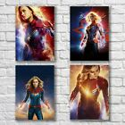 Captain Marvel Brie Larson Poster A4 NEW Set Sexy Hot Superhero Home Wall Decor