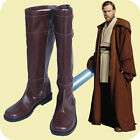 Custom Made Star Wars Jedi Knight Obi-Wan Adult's Cosplay Shoes Boots brown $48.0 USD on eBay