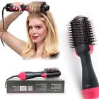 US Hair Dryer Volumizer One Step Curling Oval Brush Curler Styler Mixed Bristles