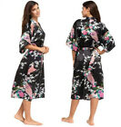 Satin Robes Brides Sleepwear Silk Pajama Bathrobe Rayon Long Nightgown Kimono