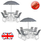 Outdoor Dining 6/8 Pcs Garden Table And Chairs Patio Home Furniture Textilene Uk