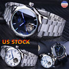 Men Blue Ocean Design Mechanical Watch Luxury Automatic Fashion  Wristwatches