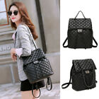 Convertible Quilted Faux Leather Backpack Rucksack Daypack Shoulder Bag Purse