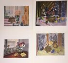 Matisse Art Print Bookplate Trimmed Cuts Lot 4X Half Page ** SEE VARIETY