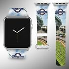 Milwaukee Brewers Apple Watch Band 38 40 42 44 mm Fabric Leather Strap 02 on Ebay