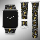 Pittsburgh Pirates Apple Watch Band 38 40 42 44 mm Fabric Leather Strap 02 on Ebay