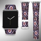 Washington Nationals Apple Watch Band 38 40 42 44 mm Fabric Leather Strap 02 on Ebay