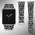 Los Angeles Kings Apple Watch Band 38 40 42 44 mm Fabric Leather Strap 01 $29.97 USD on eBay