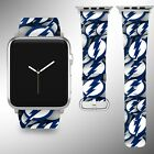 Tampa Bay Lightning Apple Watch Band 38 40 42 44 mm Fabric Leather Strap 01 $29.97 USD on eBay