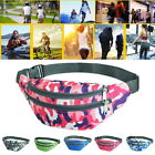 Unisex Sports Belt Bag Waist Waterproof Camouflage Printing Antitheft Travel