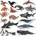 Ocean Animal Zoo Shark Whale Fsih Turtle Octopus Figure Collector Toy Model Gift