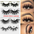 SKONHED 1Pair*3D Mink Hair False Eyelashes Thick Long Lashs Extension Handmade