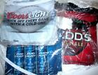 Bud Coors Light Redds Beer 3 Banners Bar Pennants Signs NFL Football Party Flags