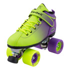 Kyпить Riedell 2 Tone Dart Green & Purple Ombre Quad Roller Speed Skates на еВаy.соm