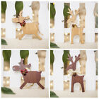 Gifts Wooden Ornaments Christmas Decoration Elk Pendant Xmas Tree Hanging