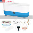US Ultrasonic Jewelry Cleaner Denture Eye Glasses Coins Silver Cleaning Machine