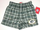 Green Bay Packers Team Color Plaid Flannel Boxer Shorts - Child $18.45 CAD on eBay