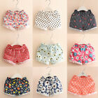 Toddler Baby Girl Pull-On Floral Summer Cotton Shorts Fold-Over Hem 2T-8
