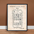 IPHONE PATENT POSTER APPLE STEVE JOBS CELL SMART PHONE IOS SIRI GIFT (unframed)