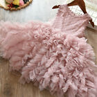 Lace Flower Girl Dress Kids Party Princess Birthday Party Tutu Clothes Size 3-8