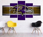 Baltimore Ravens HD Print Oil Painting Home Decor Art On Canvas 5PCS Unframed $28.0 USD on eBay