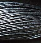 Waxed Cotton Cord 1mm ,10m to 50m Jewellery Making & Bracelet Necklace Craft