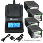 Kastar Battery LCD Fast Charger for Canon BP-820 BP-828 Canon XA35 Video Camera