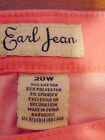 EARL JEAN Women's Plus Stretch Straight Leg Jeans Light Pink Jeweled Bling NEW