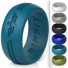 Silicone Ring  Wedding Band for Men by Rinfit  Designed, Soft  Comfortable