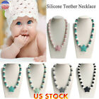 Kids Teething Necklace Silicone Beads Baby Chew Sensory Jewelry Chewing Toy US
