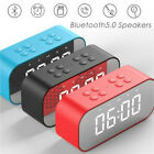 BT510 Large Alarm Clock With TF LED Digit Display With Dimmer Bluetooth Speaker