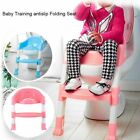 Trainer Toilet Potty Padded Seat Chair Kids Toddler w/ Ladder Step Up MY image