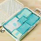 6Pcs Waterproof Storage Bags Clothes Travel Packing Cube Luggage Organizer Pouch