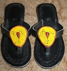 Kids Girls/ Boys Unique Tanzanian Handmade Leather Flip Flops
