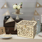 DIY Wedding Card Box with Lock Money Wooden Gift Boxes Birthday Party