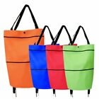 Folding Shopping Trolley Foodstuff Shopper Cart Bag Light Weight Foldable Wheels