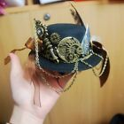 Steampunk Victorian Gothic Mini Hat Gear Feather Halloween Party Decor Cute Chic