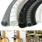 2M Cable Hide Wrap Tube 10/25mm Organizer  Management Wire Spiral Flexible JF