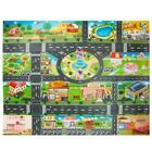 Kids Children's Rugs Town Road Map City Cars Toy Rug Play Village Mat 1.3 * 1m
