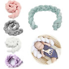 3M  Infant Plush Crib Bumper Bed Bedding Cot Braid Pillows Pad Protector UK