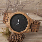 BOBO Bird Zebra Wood Watch Men Lightweight Vintage Quartz Wooden Watches KOA image