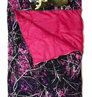 NWT Camouflage Camo Slumber Bag w/ Pillow - Licensed Muddy Girl Moonshire Purple