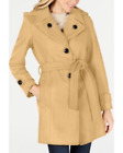 London Fog Hooded Belted Peacoat - Camel - Size UK L
