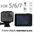 Tempered Glass Front+Back Camera Lens&Screen Protector Film For Gopro Hero 7 6 5
