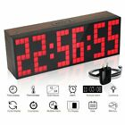 Jumbo LED Snooze Wall Desk Alarm Clock Count Down Timer with Calendar Big Number