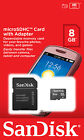 SanDisk 8GB 16GB 32GB MicroSD SDHC micro SD Class 4 Flash Memory Card + Adapter